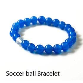 サッカー応援ブレスレット メンズ 天然石