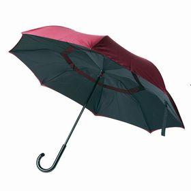 【ブラック×レッド】逆さに開く2重傘