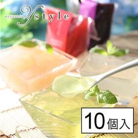 【5種計10個】夏季限定フルーツゼリー(白桃、マスカット、ベ...