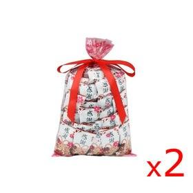 【2 個セット】 感謝柿ピー(60コ) 花柄袋ラッピング