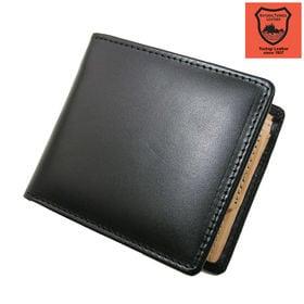 【ブラック】栃木レザー社製皮革使用 二つ折り財布