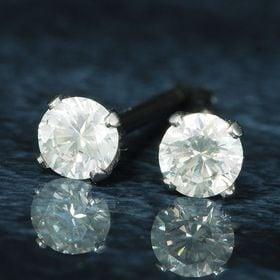 【鑑別書付】天然ダイヤモンド計0.2ct G・Hカラー/SI...