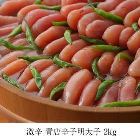 [2kg]激辛3辛 青唐辛子明太子(1本物) | 通常の3倍辛い激辛青唐辛子明太子!!辛いだけじゃない、旨味たっぷりの本場の味をご賞味下さい