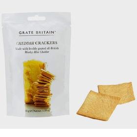 【3袋】グレートブリテン チェダーチーズ クラッカー 45g