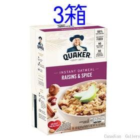 【3箱】クエーカー オートミール レーズン&スパイス 430...