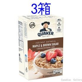 【3箱】クエーカー オートミール メープルブラウンシュガー ...