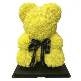 【イエロー】ソープフラワー テディベア形の花