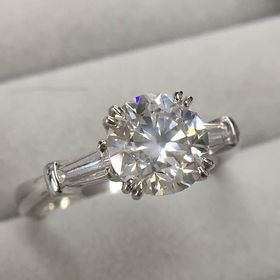 GE  天然 ダイヤモンド 2ct SIクラス PT900 ...