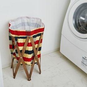 【チェック×ブラウン】Laundry Hamper ランドリ...