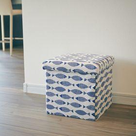 【フィッシュ】座ってしまえて畳める便利ボックス 2個セット
