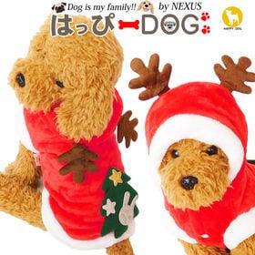 【レッド/Mサイズ】犬 服 犬服 パーカー クリスマス トナ...