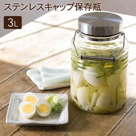 ステンレスキャップ 保存瓶 3L(杓子付き)