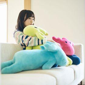 【ピンク】moz ふわふわ抱き枕 Lサイズ