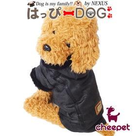 【ブラウン/Mサイズ】犬 服 ジャケット ジャンパー ファー...