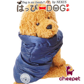 【ネイビー/Mサイズ】犬 服 ジャケット ジャンパー ダウン...
