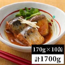 【170g×10缶】<国産>いわし缶詰 味噌煮