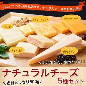 【計500g】ナチュラルチーズ5種セット食べきりサイズ個包装