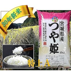 【10kg】宮城県産 つや姫白米(特別栽培)