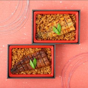 銀座割烹里仙監修 鰻蒲焼、白焼食べ比べ弁当