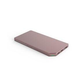ピンク モバイルバッテリー PowerBank Slim a...