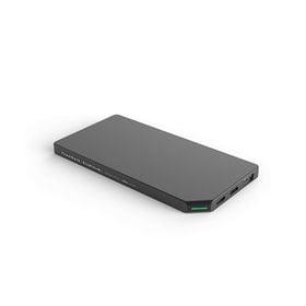 グレー モバイルバッテリー PowerBank Slim a...