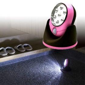 【ピンク】LEDセンサーライト 『パッとひかる君』