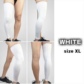 【ホワイト:XL】レッグウォーマー(両足用)