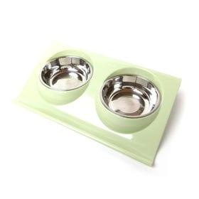 【グリーン】犬 テーブル 食器台 餌台 犬用 猫用 ペット用...