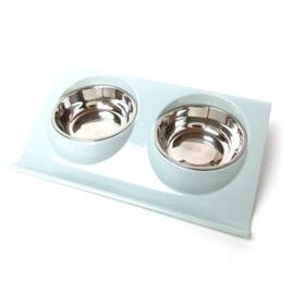 【ブルー】犬 テーブル 食器台 餌台 犬用 猫用 ペット用 ...