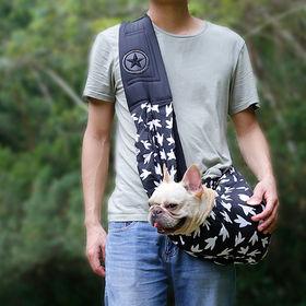 【ブラック】スリング 犬 バッグ キャリーバッグ 抱っこひも...