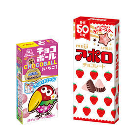 【2種・計12コ】チョコボール いちご& アポロセット