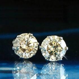 GE 【鑑別書付】天然ダイヤモンド計0.5ctプラチナピアス