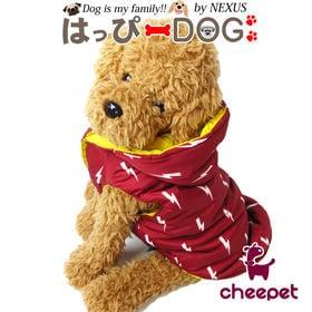 【レッド/L】犬 服 犬服 犬の服 アウター ダウン風 コー...