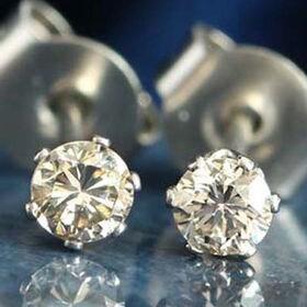天然ダイヤモンド計0.2ctピアス ホワイト SS316L使...