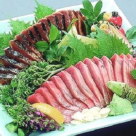 【計470g前後】高知特産トロカツオの藁焼きタタキと刺身セッ...