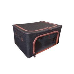 [2個セット/Mサイズ] 竹炭収納ケース/SY-078-M