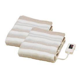 【023S x2】敷き電気毛布140×80cm本体丸洗いOK...