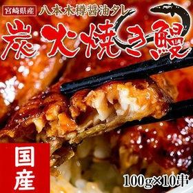 【100g×10串】宮崎県産炭火焼き鰻 八本木樽醤油タレ付き