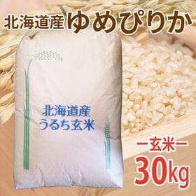 【30kg (30kg×1袋)】令和元年産 玄米 北海道産ゆ...