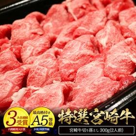 <3000円OFFクーポン付>【計900g】宮崎牛特選切り落とし肉 300g×3パック