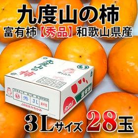 【約7.5kg(約28玉前後)】和歌山県産 九度山の柿(富有柿) 青秀