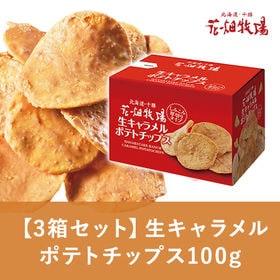 花畑牧場【3箱セット】生キャラメルポテトチップス100g