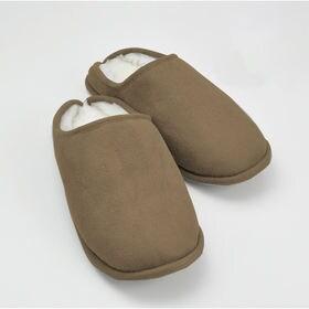 [Mサイズ(23-24cm)/ブラウン] 羊毛とシンサレート...