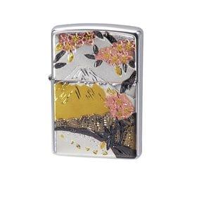 ZIPPO ジッポー ライター 電鋳板 和柄 富士桜
