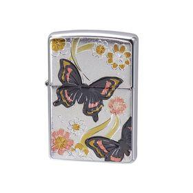 ZIPPO ジッポー ライター 電鋳板 和柄 蝶