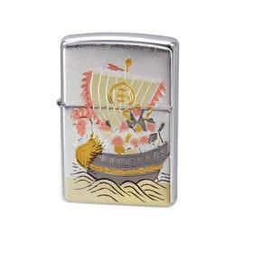 ZIPPO ジッポー ライター 電鋳板 和柄 宝船
