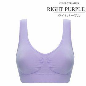 【ライトパープルL】シンプルナイトブラジャー 【vl-5322】 | ファッション レディース おしゃれ