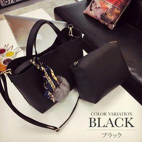 【ブラック】3wayショルダーハンドバッグ【vl-5137】...