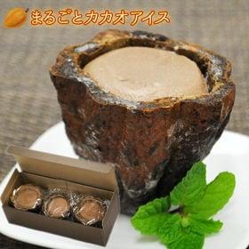 【3個セット】まるごとアイス カカオ ショコラ風味のアイスを...