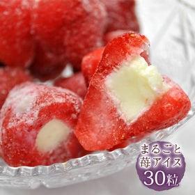 【30粒入り】まるごとアイス いちご 苺の芯をくり抜いて練乳...